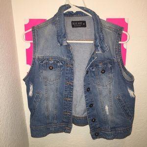 Denim Distressed vest